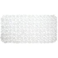 InterDesign Pebblz Non-Slip Suction Bath Mat - Mat for Shower or Tub, Clear