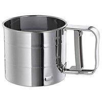 Flour Sifter, Stainless Steel, Height: 9.5 cm (3 ) Diameter:10.5 cm (4 ). Idealisk, Ikea.