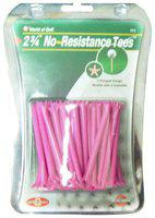 Golf Gifts and Gallery 40-Pack No Resistance Tees (2 3/4-Inch, Pink)