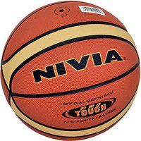 Nivia Pro Touch Synthetic/Composite Basketball ( Size: 7, Color : Multicolour, Ideal for : Training/Match )