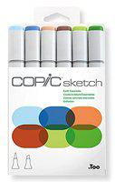 Copic Marker Sketch Markers, Earth Essentials, 6-Pack