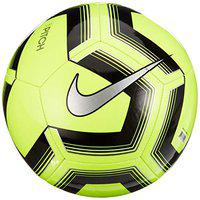 Nike Pitch Training Soccer Ball FootBall ( Color: Volt/Black/Silver , Size :5)