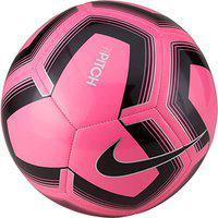 Nike Pitch Training Soccer Ball FootBall ( Color: Pink Blast/Black , Size :5)