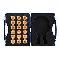 Joola Table Tennis Tour Case With 18 40mm Three Star Competition Balls, Blue