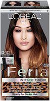 L'Oreal Paris Feria Brush-On Intense Ombre Effect Hair Color, 040 For Soft Black to Black Hair