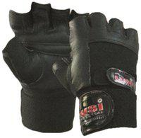 USI Fitness Gloves Contact Wrap Double Strap, L (Black)