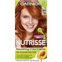 Garnier Hair Color Nutrisse Nourishing Color Creme, 643 Light Natural Copper (Packaging May Vary)