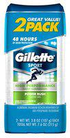 Gillette Deodorant Twin Pack Power Rush 3.8 Ounce Clear Gel (112Ml) (6 Pack)
