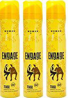 Engage Woman Bodylicious Deodorant Spray - Tease (150ml) (Pack of 3)