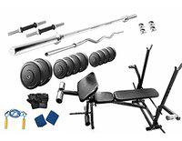 Protoner 20 kg with 7 in 1 Multy Bench Home Gym Package for Fitness Weight Training
