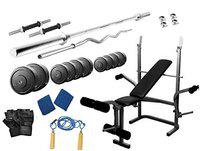 Protoner 28 kg with protoner Multy Bench Home Gym Package for Fitness Weight Training