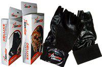 tenstar Gym Gloves Deluxe Weight Lifting Gloves (Black)