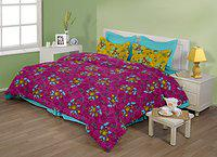 Birla Century Bedsheet ATTRACTION 100% Cotton Double Bed Sheet Size: 88 X 96 With Two Pillow Cover Size: 18 X 27 Purple