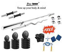 Protoner 26 Kg With 4 Rods Home Gym Package For Fitness Weight Training