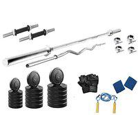 Protoner 28 kg with 4 rods Home Gym Package for Fitness Weight Training