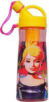 Disney Cinderella Plastic Sipper Bottle, 600ml, Pink/Yellow