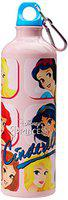 Disney Cinderella Aluminium Sipper Bottle, 750ml, Pink/Yellow