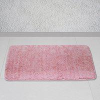 Story @ Home Peach Polyester Prima 1 Pc Door or Bath Mat