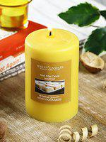 Hosley Lemon Bar Highly Fragranced 4inch Pillar Candle