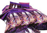 AMK HOME DECOR Double bedsheet(250x230) with Pillow Covers