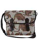 Anekaant Seventh Sense Women Canvas Brown and Beige Messenger bag