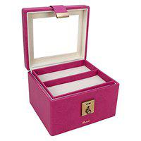 RICHPIKS Pink Vanity Box with clasp lock