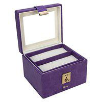 RICHPIKS Purple Vanity Box with clasp lock and key