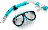 Viva Sports Adult Combo Mask and Snorkle Swimming Set (Blue)
