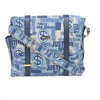 BagsRUs Canvas 9 Liter Navy Blue Office Casual Messenger Bag (MG105FNB)