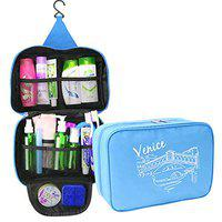 House of Quirk Hanging Travel Toiletry Cosmetic Makeup Organizer, Sky Blue