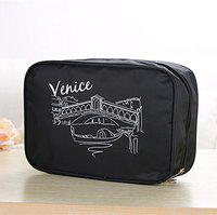 House of Quirk Hanging Travel Toiletry Cosmetic Makeup Organizer-Black
