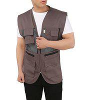Ashdan Photographer Vest. Sleeveless Regular Size Outdoor Jacket. Netted Ventilation. Adjustable Waist. Multi-Utility Pockets
