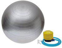 SKERA Anti Burst Gym Exercise Ball with Pump. (Silver, 85 cm)