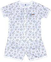 TOFFYHOUSE Baby Boys' Nightsuit (Grey, 0-3 Months)