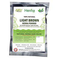 Allin Exporters Light Brown Henna Hair Color - 100% Organic and Chemical Free Henna for Hair Care - (60g x 2 Packets)