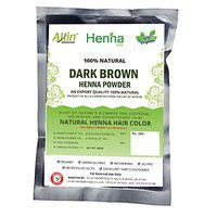 Allin Exporters Dark Brown Henna Hair Color - 100% Organic and Chemical Free Henna for Hair Color - (60g x 2 Packets)