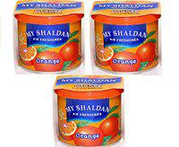 Auto Car Winner AF-OOO-01 My Shaldon Orange Gel Combo Air Freshner for Car/Home/Office (Set of 3)
