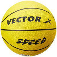 Vector X Speed Rubber Basketball (Color : Yellow , Size : 7 )