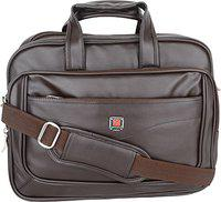 Sammerry PU Leather 12 Liters Brown Messenger Bag