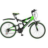 Hero Sprint Next 24T 18 Speed Mountain Bike (Green Black, Ideal For : 9 to 11 Years )