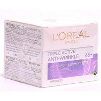 L'Oreal Paris Triple Active 45+ Anti-Wrinkle Day Cream For Wrinkles, 50 ml
