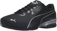 Puma Men's Tazon 6 FM Black Silver Running Shoe - 10.5 D(M) US