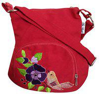 FLY ANGELS Style Red Sling Bag for girls women Ladies