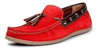 Bacca Bucci Men's Red Loafers - 9 UK, BBMC4064J