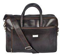 Genuine Leather classic Messenger Bag - Brown