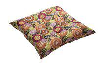 KANYOGA Cotton Filled Multipurpose Zafu Cushion for Healthy Yoga Posture & Meditation Made with Cotton Cover, (Multicolor- L 67 x W 67 x H 12 cm)