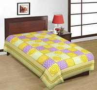 Bombay Spreads Multi Color 100% Pure Cotton Single Bed Sheet Without Pillow Cover Elegant Design for Bedding Or Decoratuve (Jaipuri Bed Spreads)