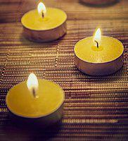Orlando's Decor Candles Yellow T Light Candles Set of 10