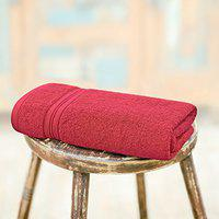 Swiss Republic Essential Plus 480 GSM Single Pack Bath Towel Red