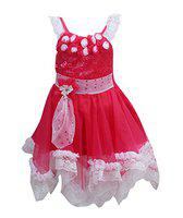 Wish Karo Baby Girls Party Wear Frock Dress (fr71M _18-24 Mnths_Maroon_18 - 24 Months)